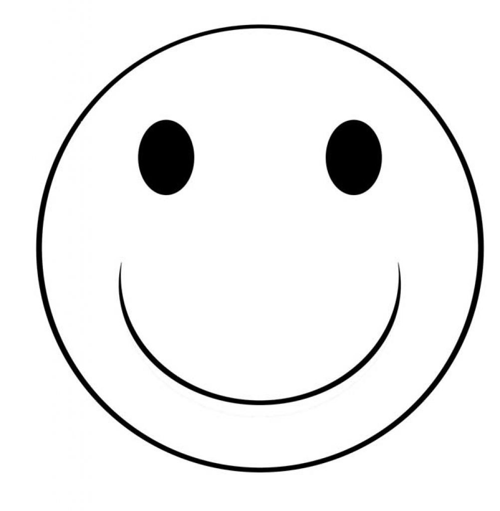 Smiley Face Line Drawing at GetDrawings | Free download |Finger Face Happy Coloring