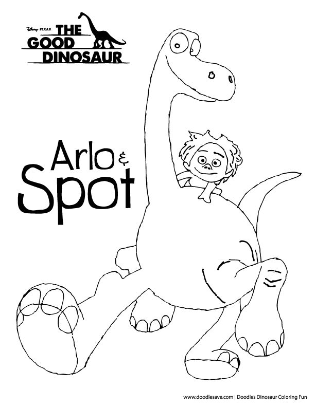 The Good Dinosaur Coloring Pages Arlo And Spot Disney