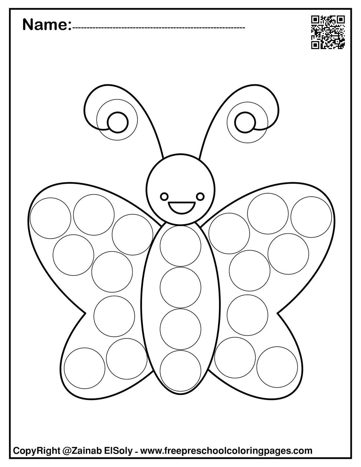 Do A Dot Art Coloring Pages Coloring Home
