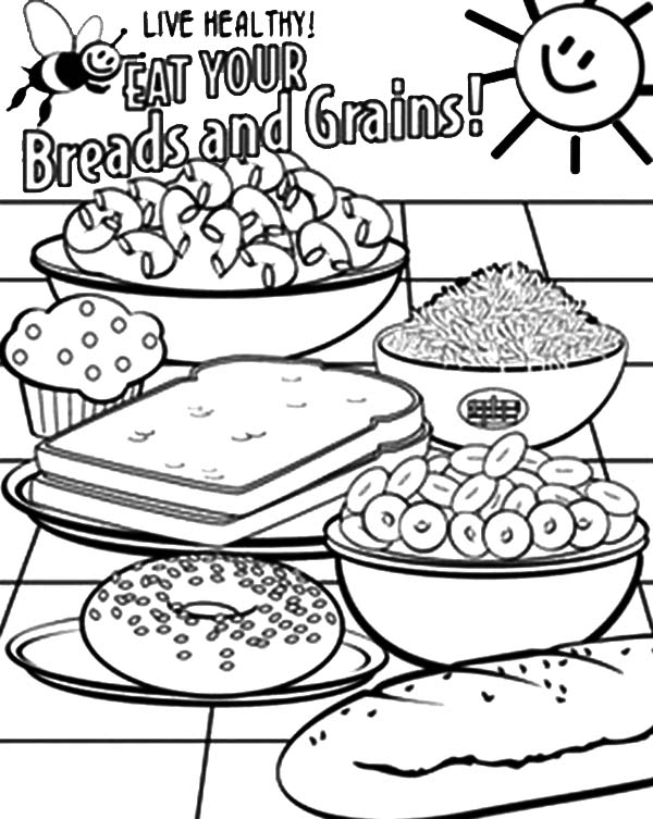 Healthy Eating Breads And Grains ...coloringsun.com