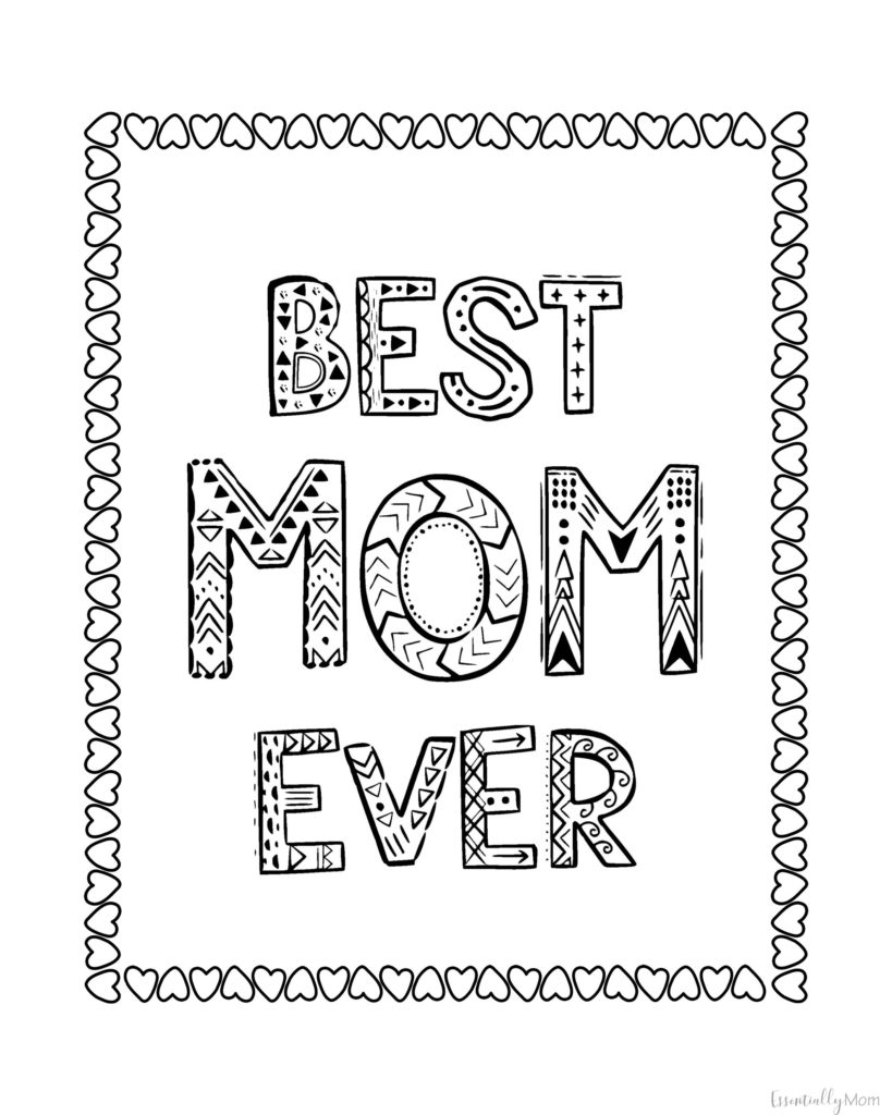 Free Printable Mother's Day Coloring Pages | Mother's Day 2020
