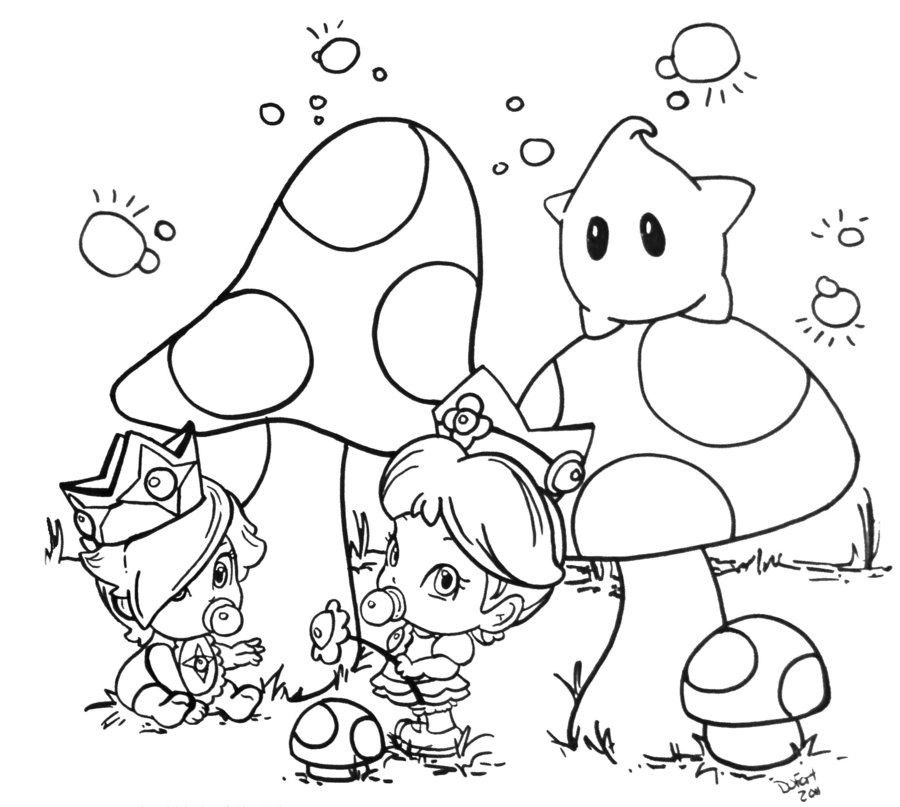 Rosalina Mario Coloring Pages - High Quality Coloring Pages