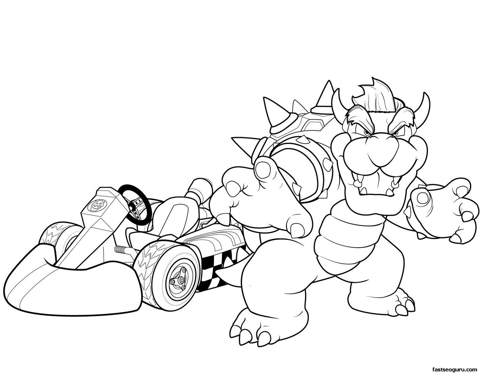 Bowser Pictures To Print And Color - Coloring Pages for Kids and ...