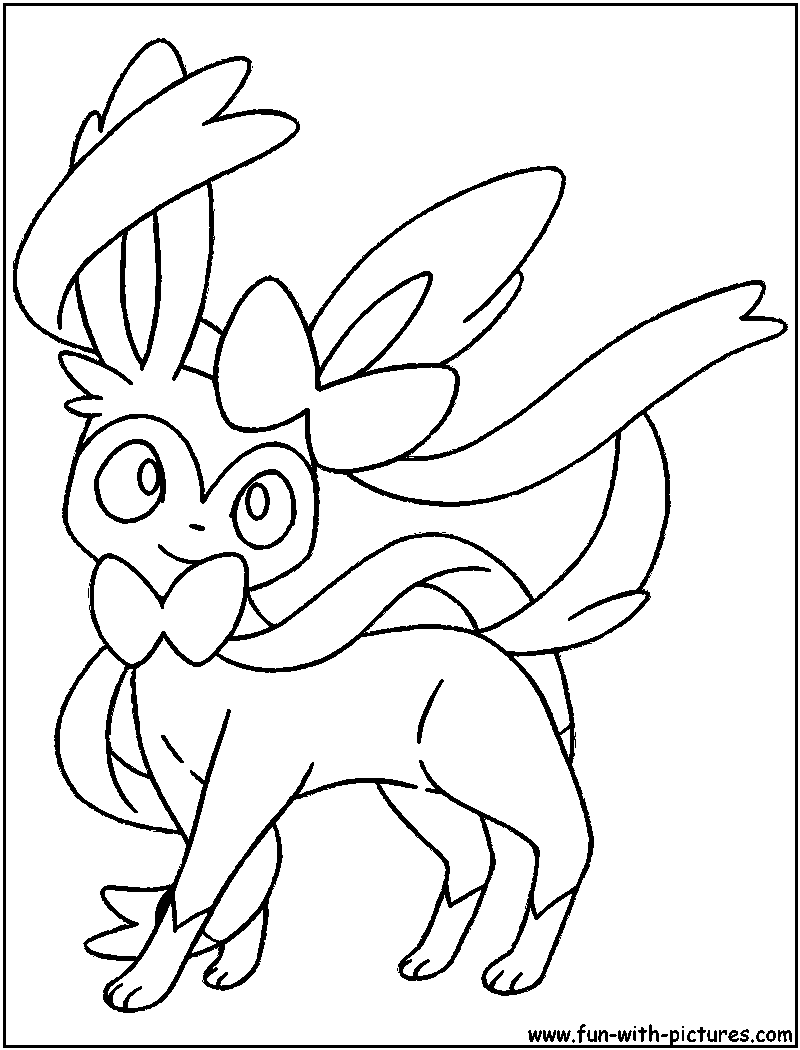 eevee evolutions coloring pages leafeon - photo#15