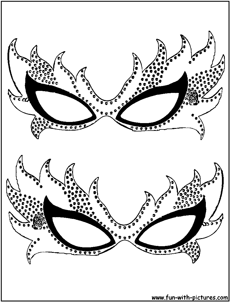 Carnival Mask Coloring Page - High Quality Coloring Pages