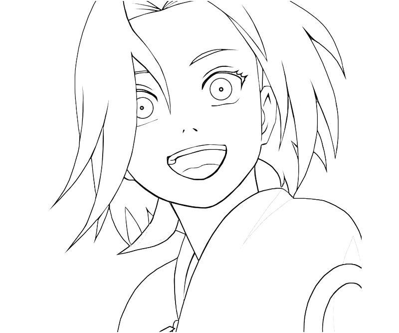 sakura haruno coloring pages - photo#33