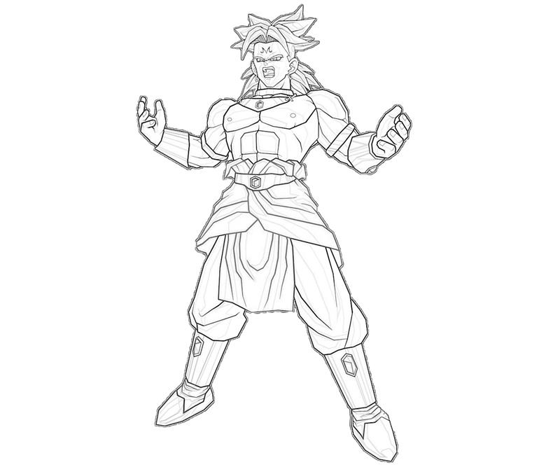 Broly Coloring Pages - Coloring Home