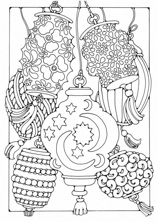 chinese lantern coloring pages - photo#17