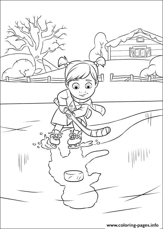 Riley Inside Out Coloring Pages Disneys