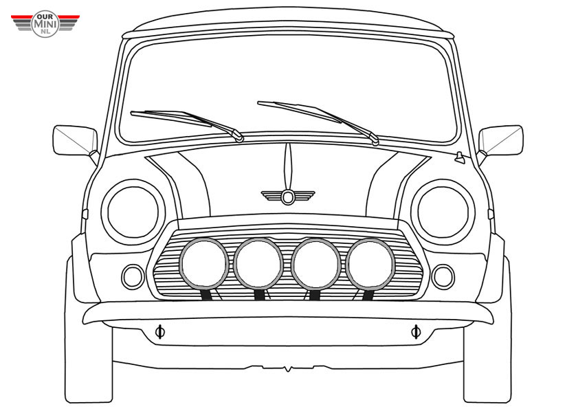 mini cooper panel coloring pages - photo#1
