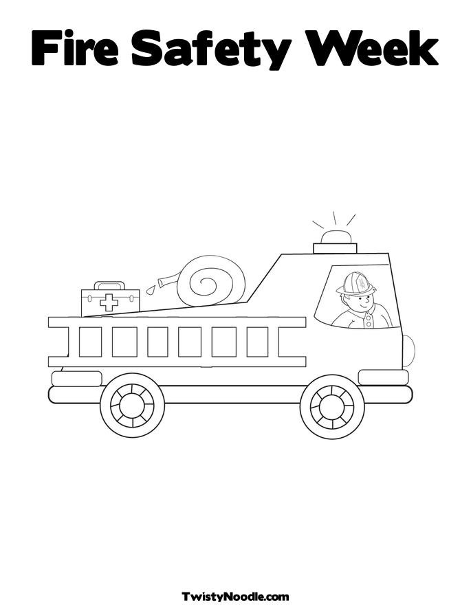Fire prevention week coloring pages coloring home for Printable fire safety coloring pages