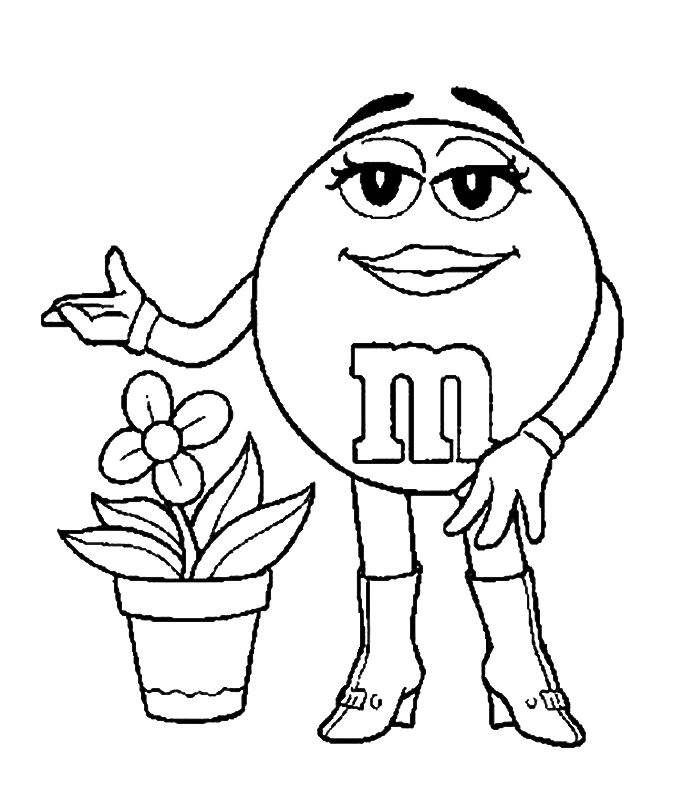 M&M Coloring Pages - Max Coloring