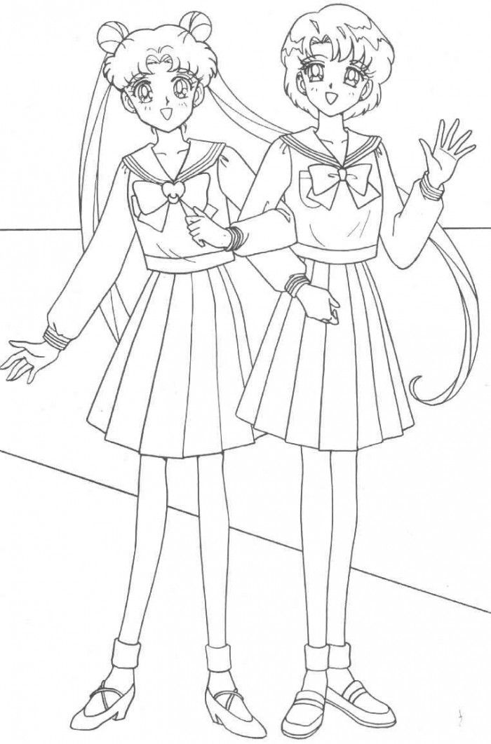 Princess Usagi Coloring Page | Cute pages of KidsColoringPage.org ...