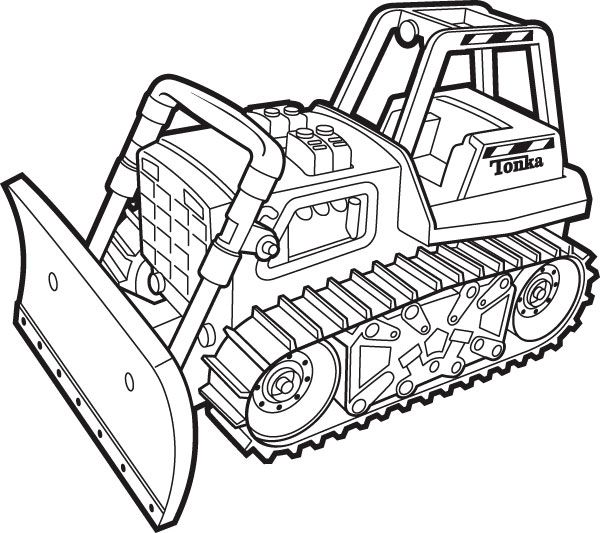 Macho Coloring Pages Of Tractors | Construction | Free | BOBCAT | 533x600