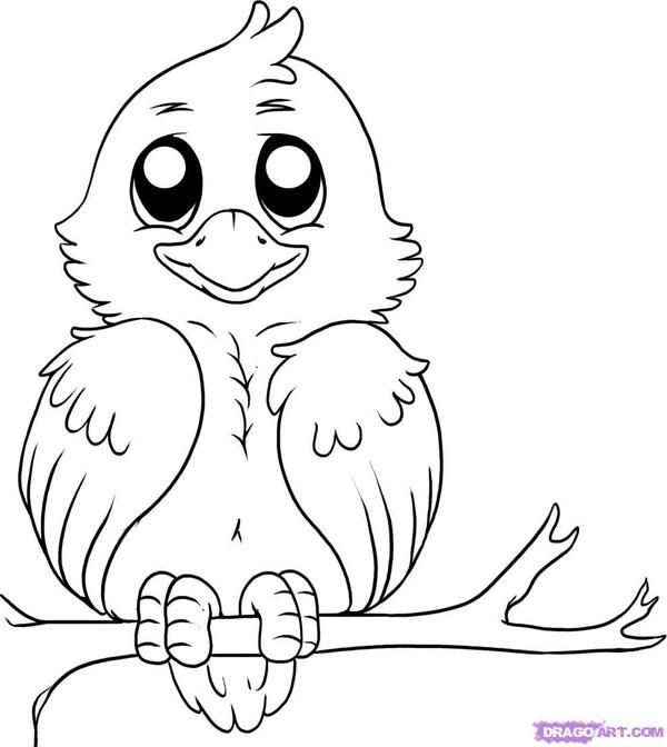 cartoon birds coloring pages - photo#30
