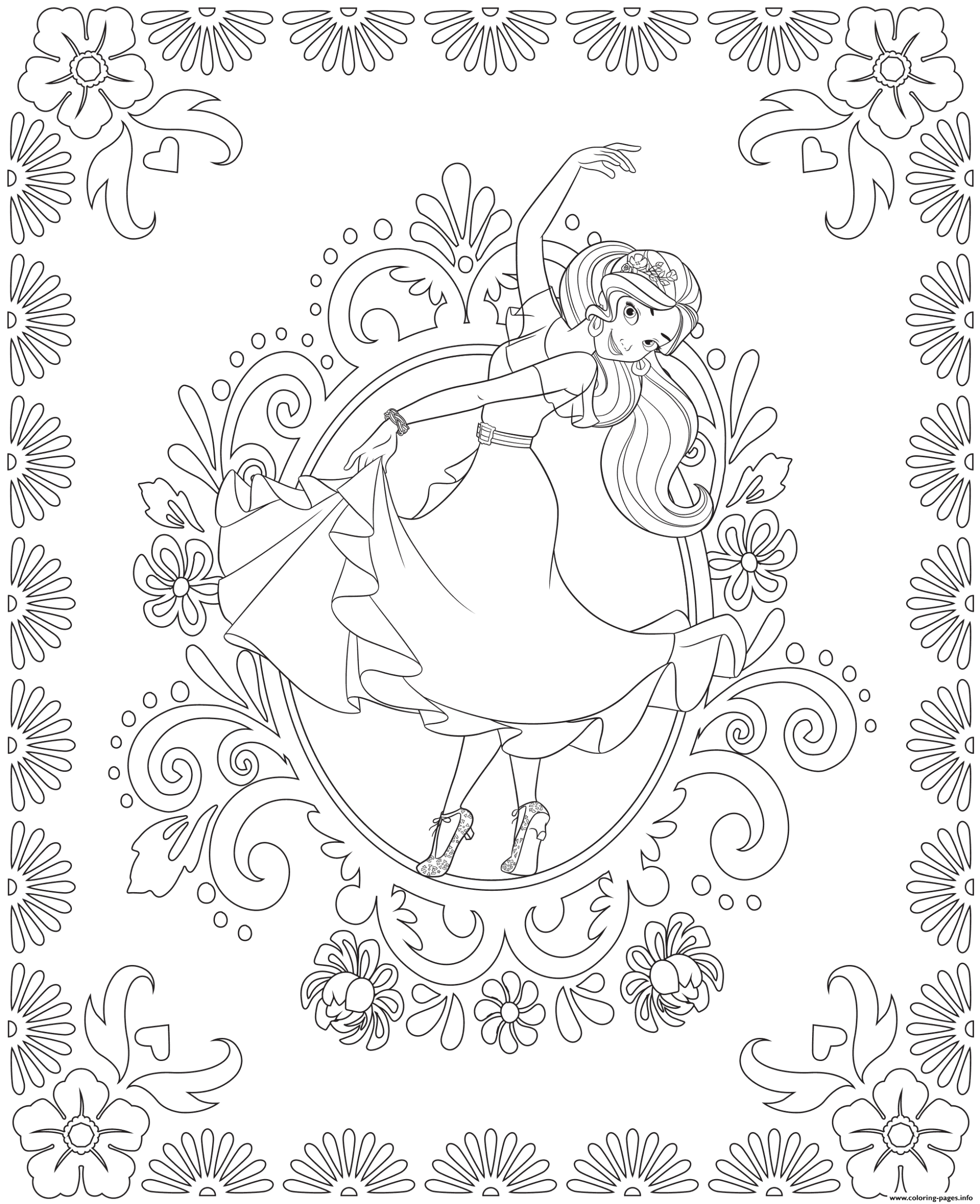 Elena Of Avalor Coloring Pages - Coloring Home