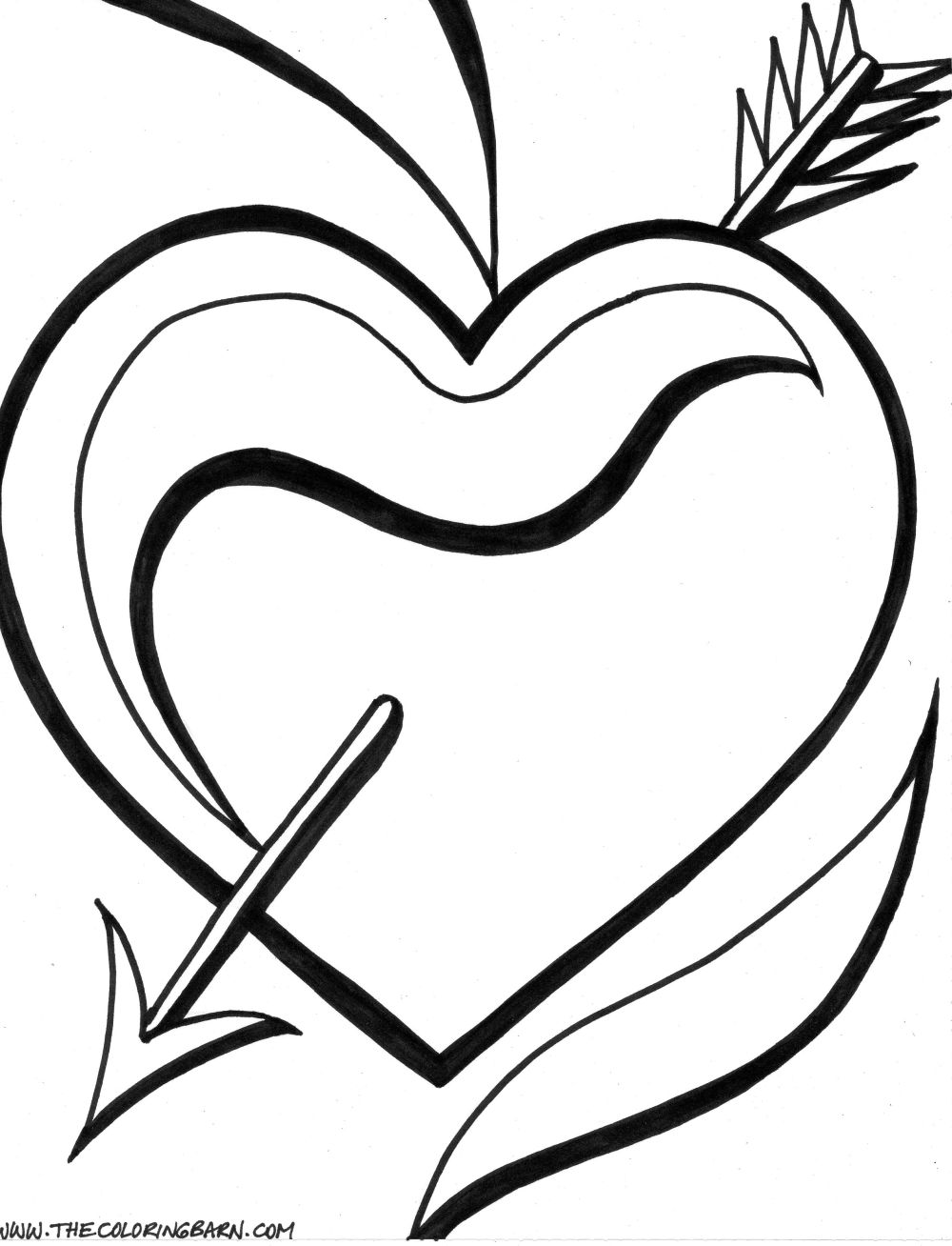 Free Hearts With Wings And Roses Coloring Pages, Download Free ... | 1308x1000