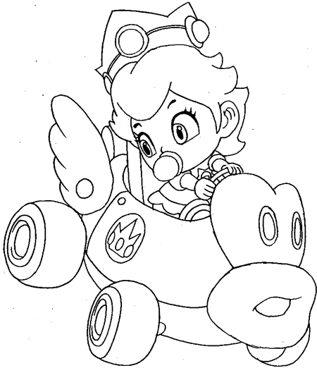 Baby Mario Bros Coloring Pages Coloring Home