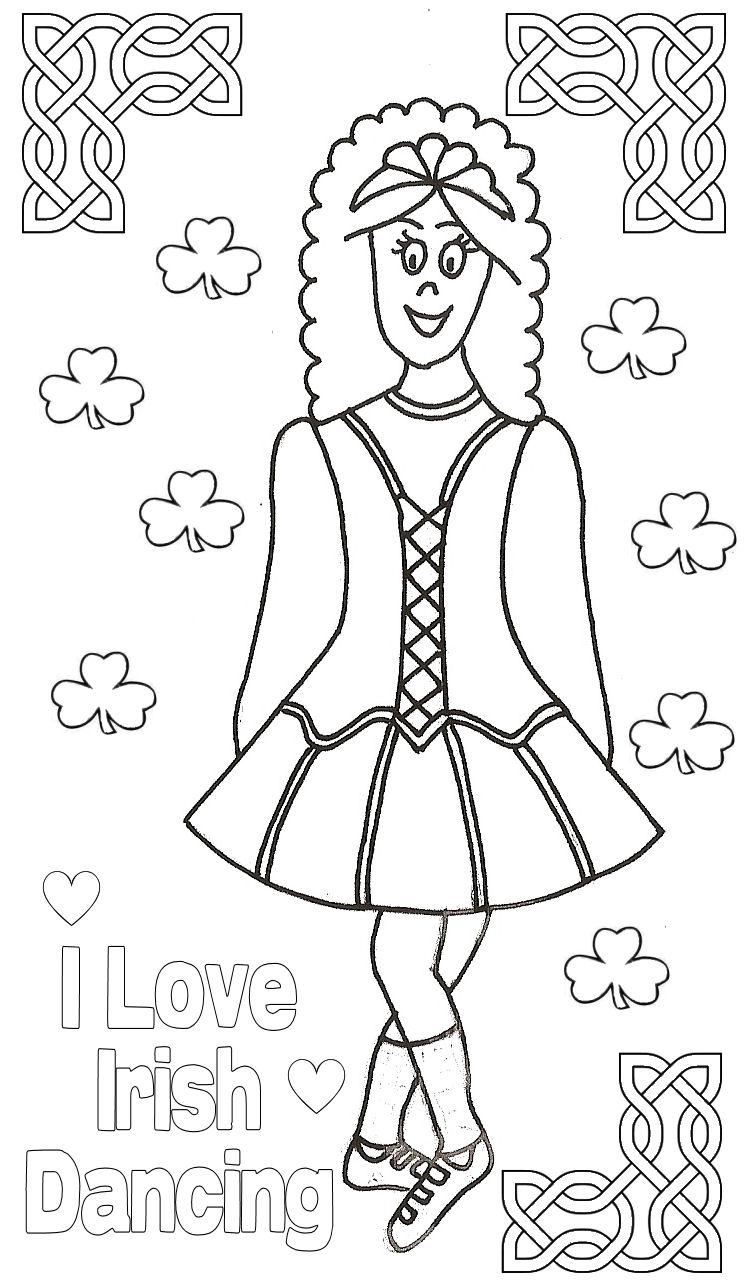 Free irish coloring pages coloring home for Irish dance coloring pages