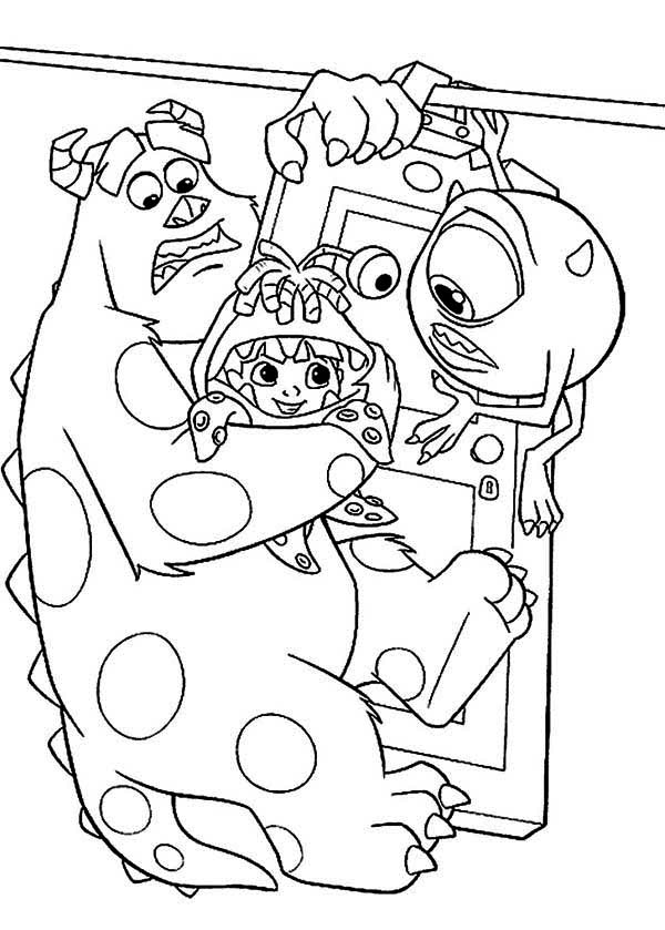 monsters inc door coloring pages - photo#9