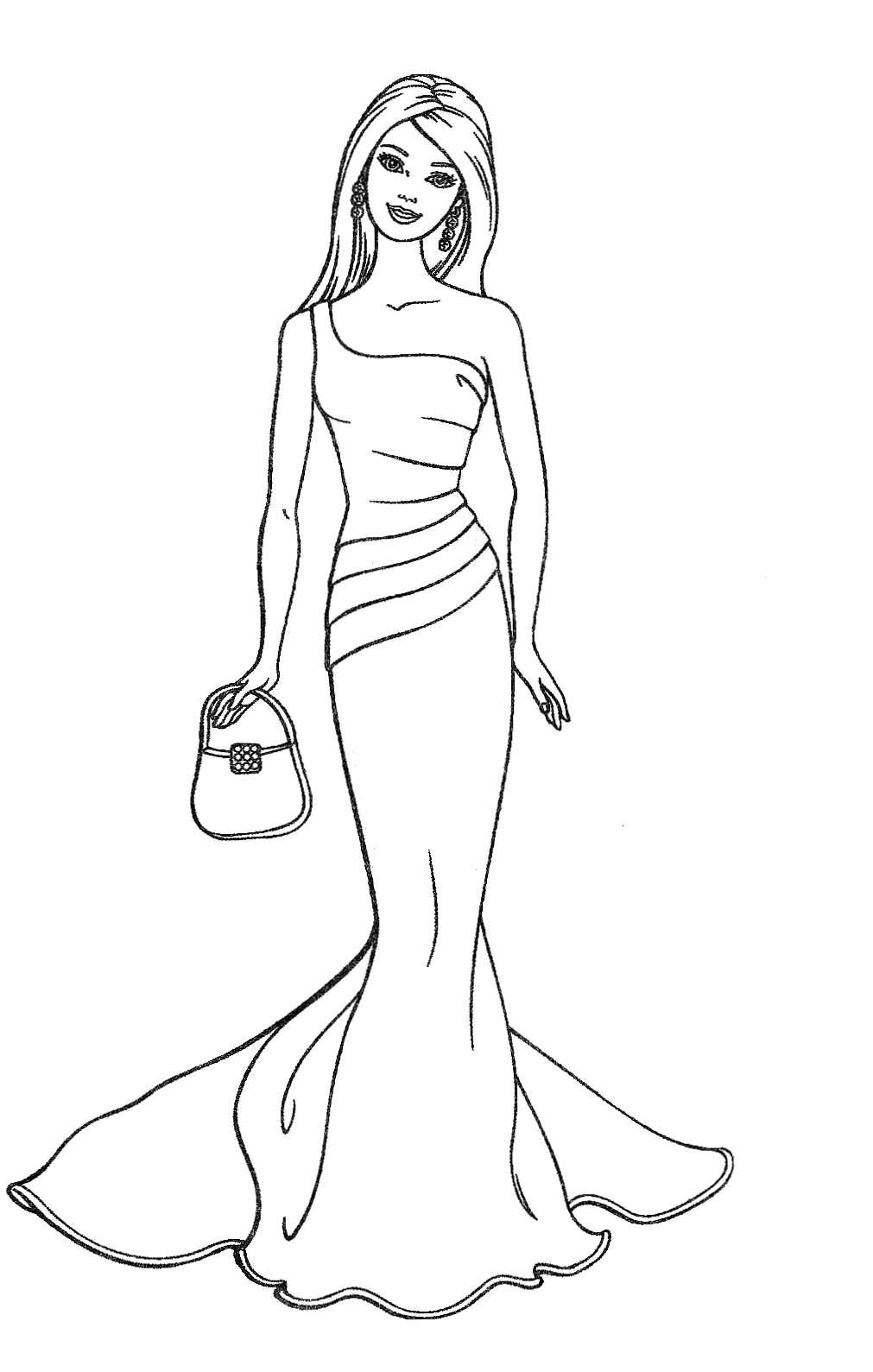 Quinceanera Coloring Page All Fashion Pages | lusoplay.com | 1589x1011