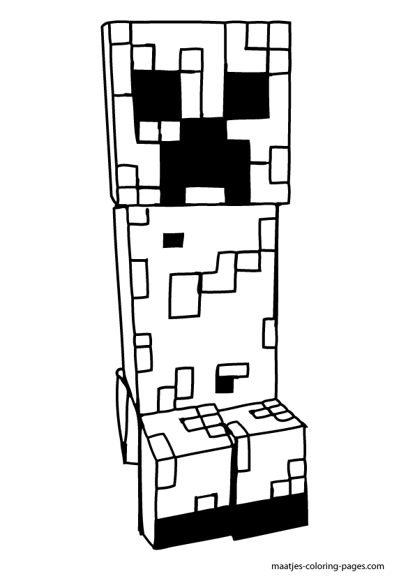 Print Minecraft Coloring Pages - Coloring Home