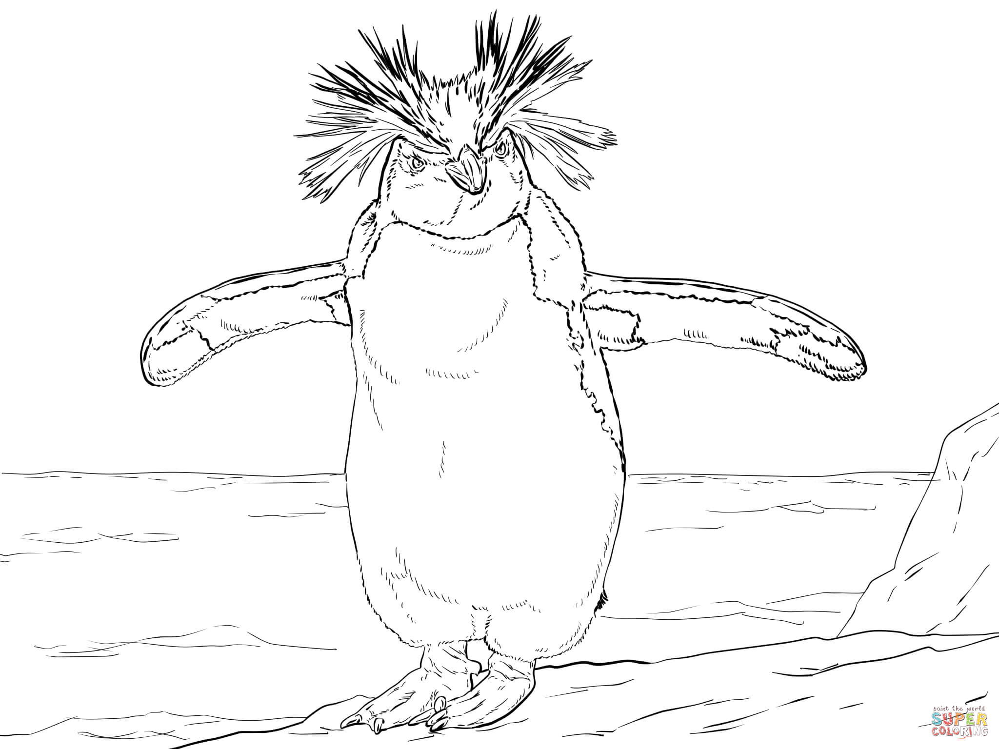 Emperor Penguin Coloring Pages - Coloring Home