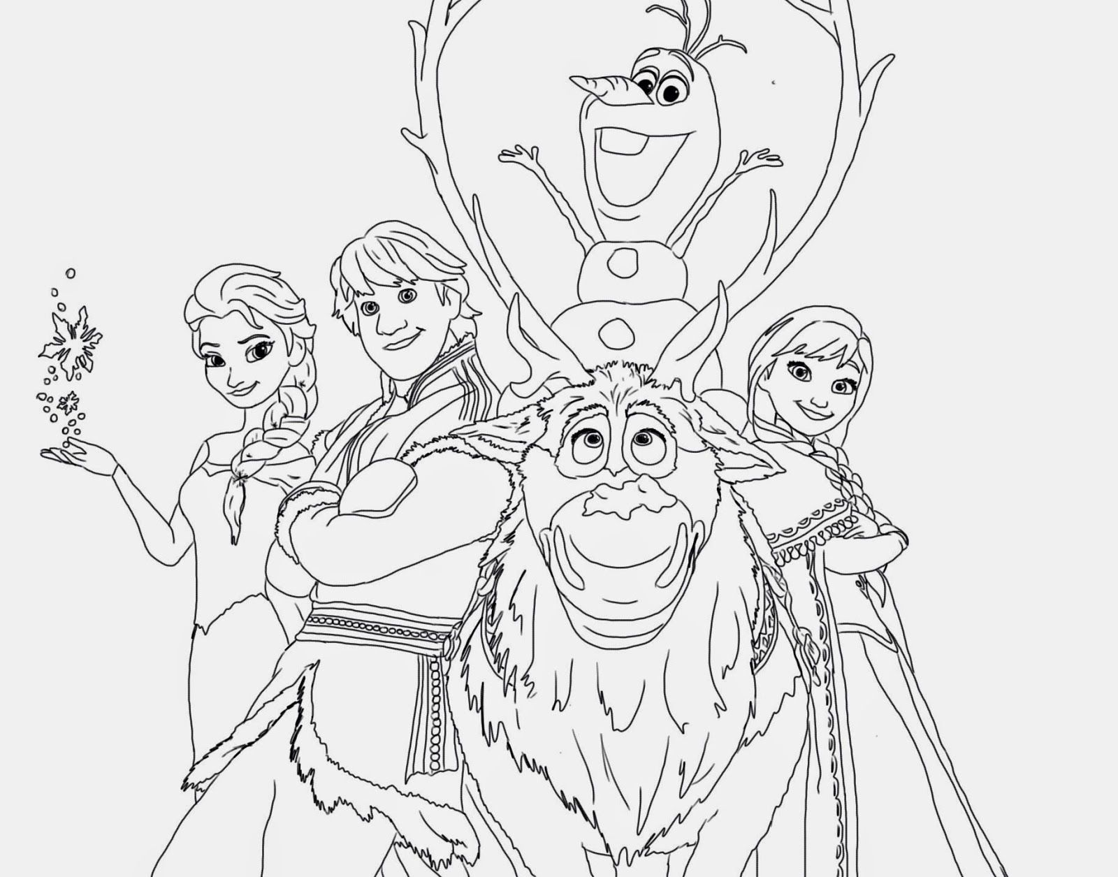 Official frozen illustrations (coloring pages) - Disney Frozen Coloring Pages Printable Instant Knowledge
