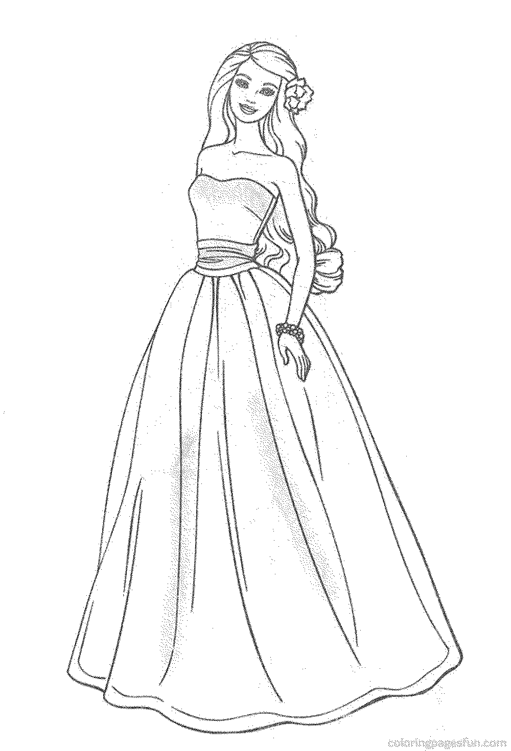 Barbie Coloring Pages Online Printable Kids Colouring Pages