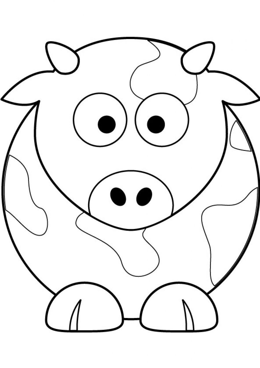 Coloring pages cow - Cows Coloring Pages For Kids And For Adults
