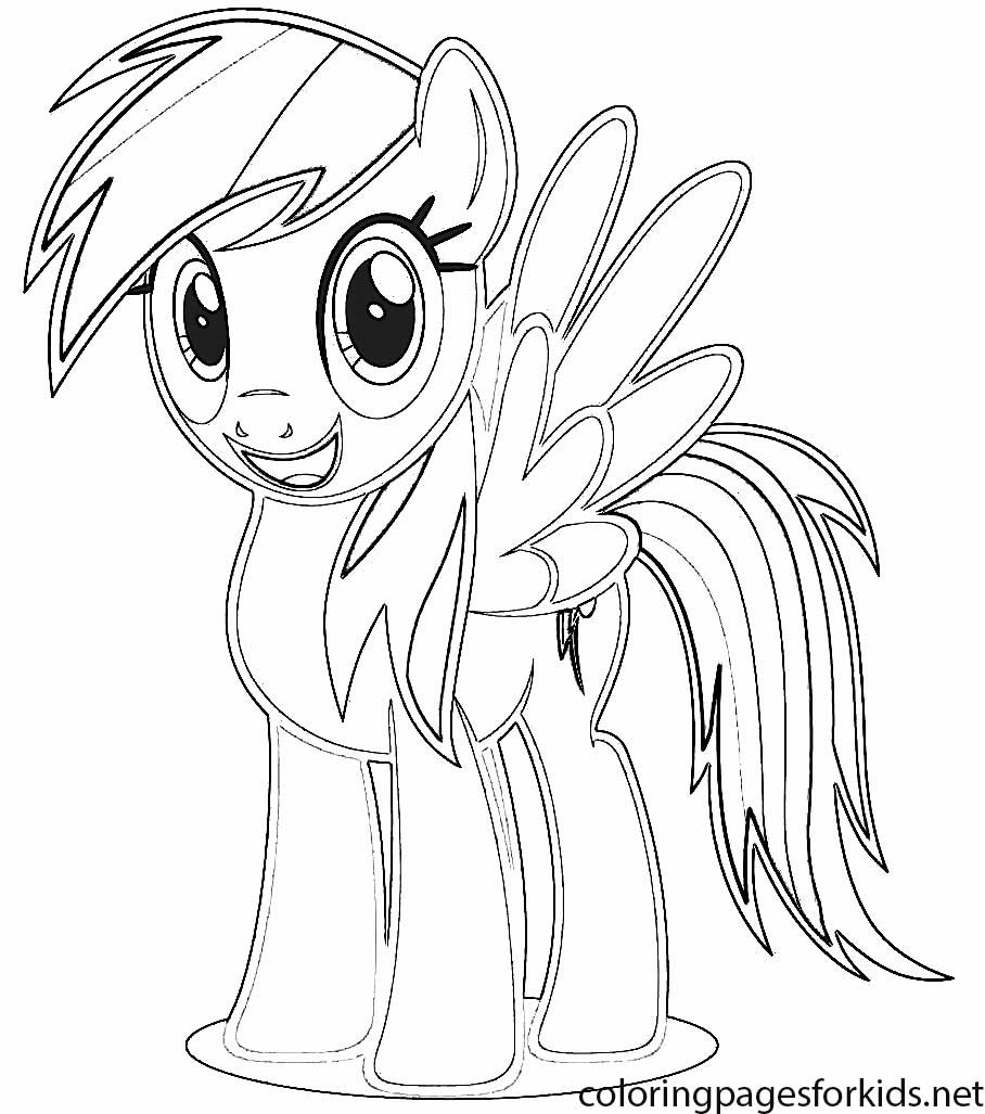 Rainbow dash coloring pages to print - Rainbow Dash Coloring Picture Coloring Pages For Kids And For Adults