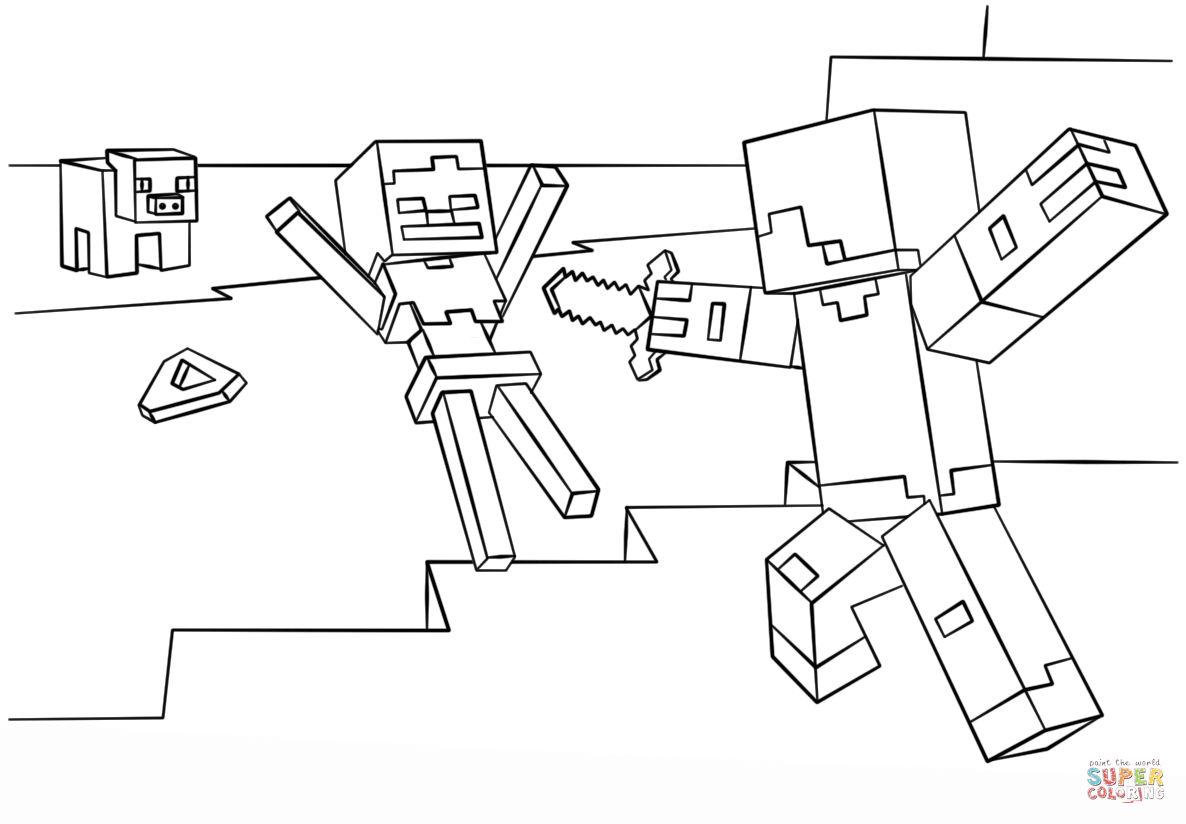 free minecraft coloring pages steve - photo#9