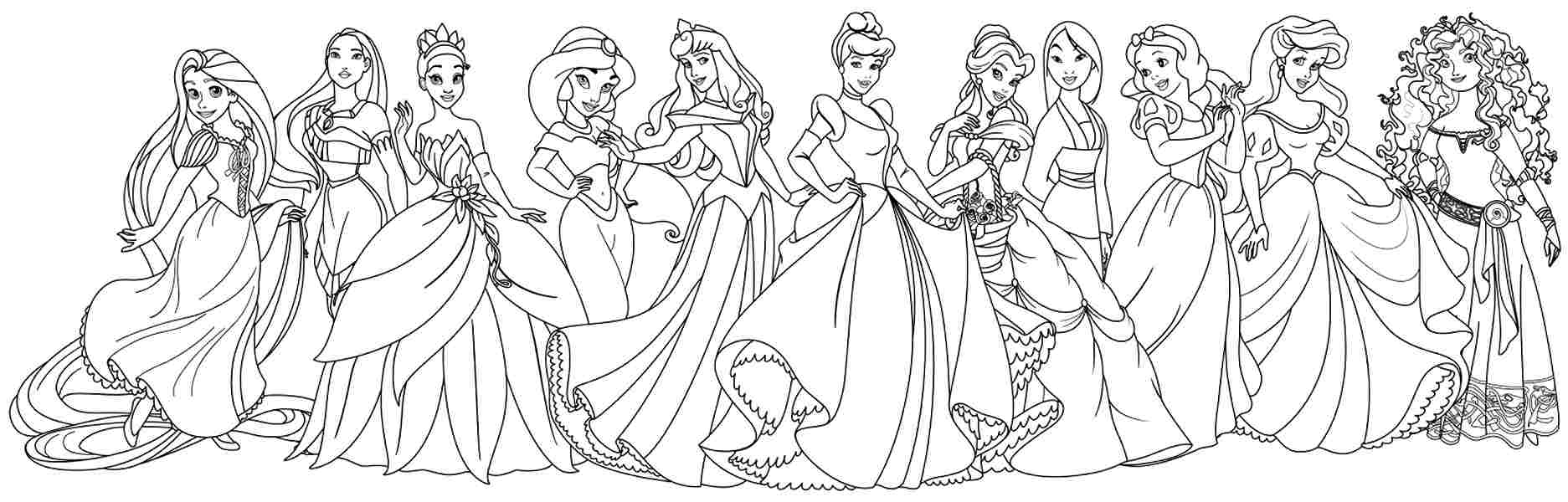 All Princess Together Coloring Pages Coloring Pages For All Ages