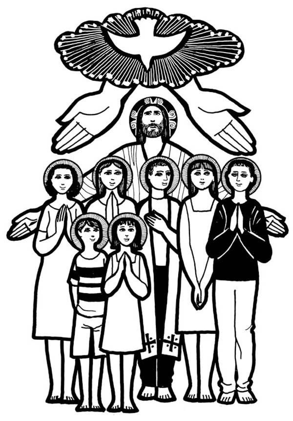 12 Pics Of All Saints Day Coloring Pages All Saints Day Coloring