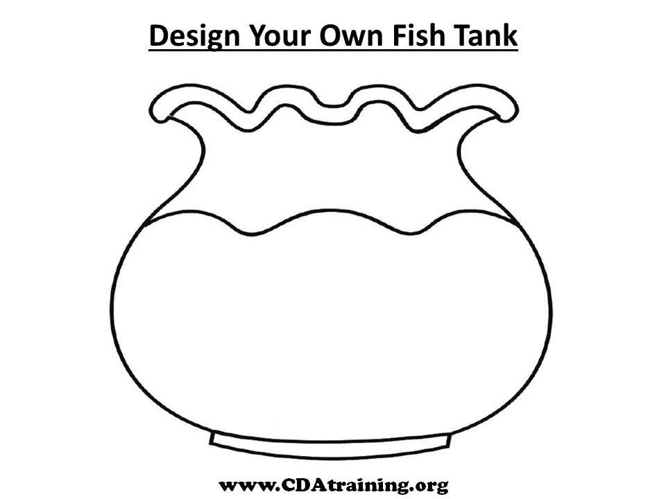 Fish Bowl Coloring Page Printable