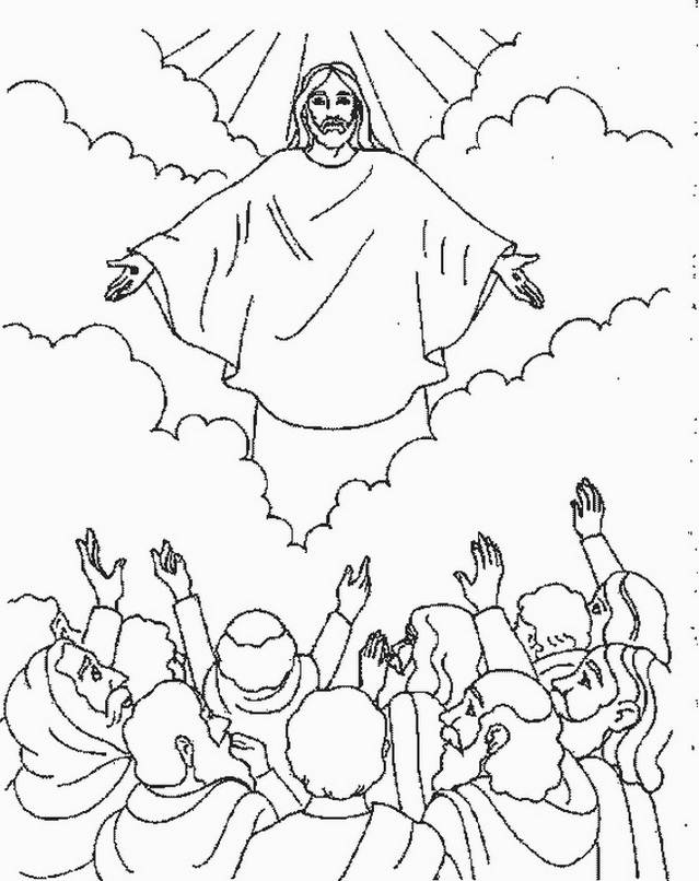 Ascension of Jesus Christ Coloring Pages -