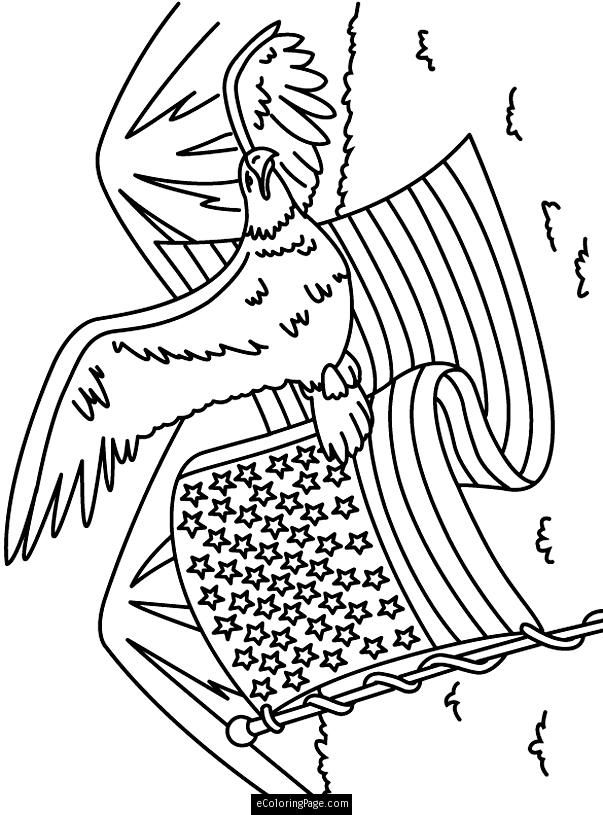 Eagle coloring page coloring home for Memorial day coloring pages for kids