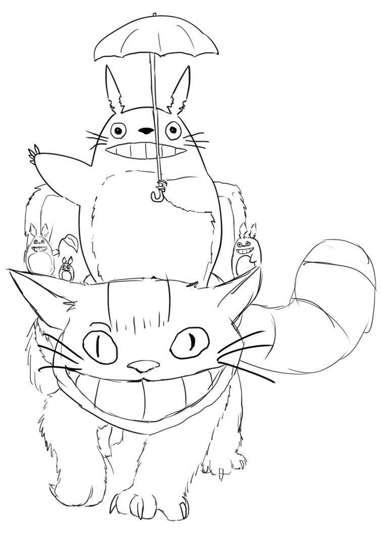 Printable Totoro Coloring Pages