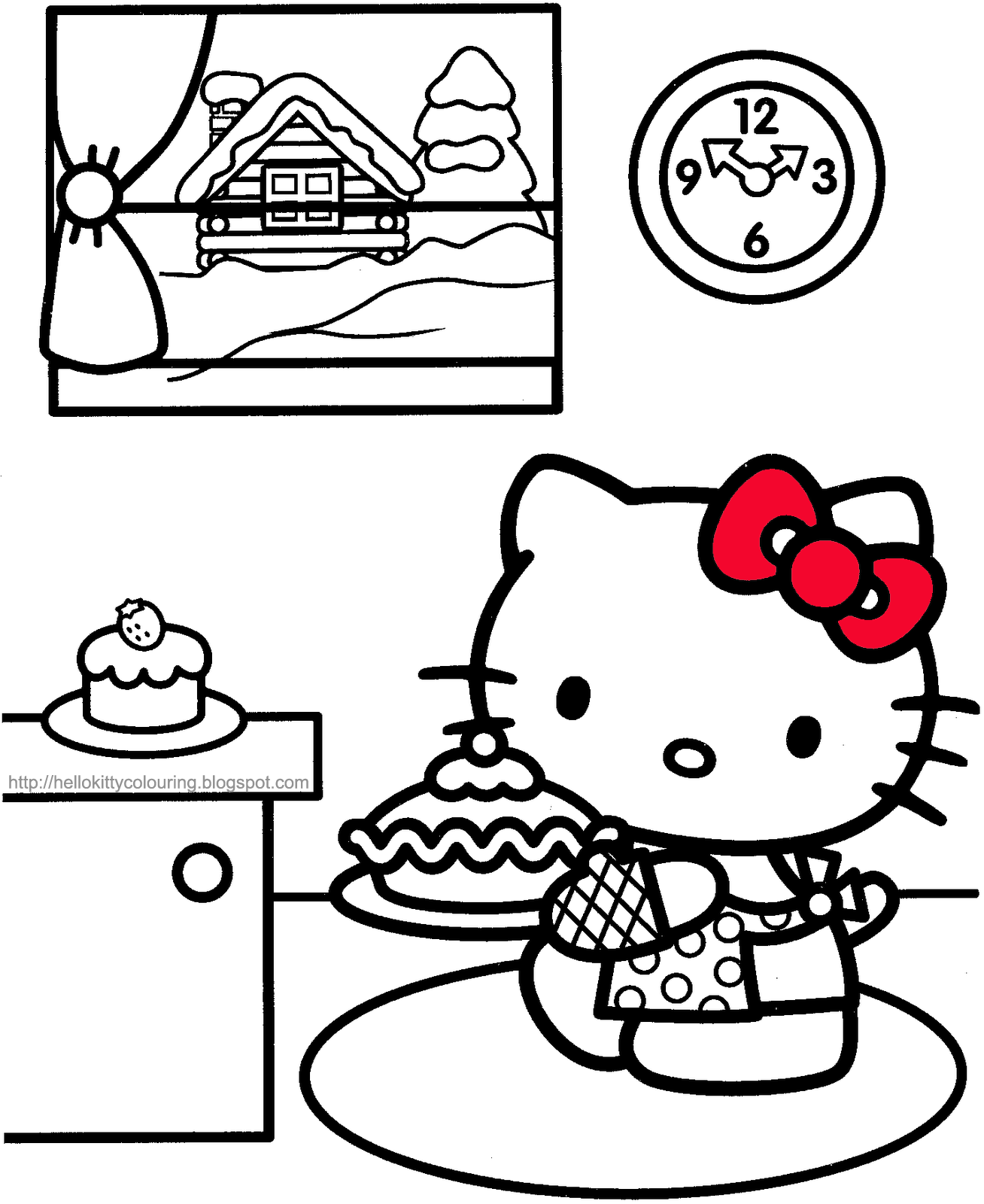Hello Kitty Cupcake Coloring Pages : Hello kitty cupcake coloring pages az