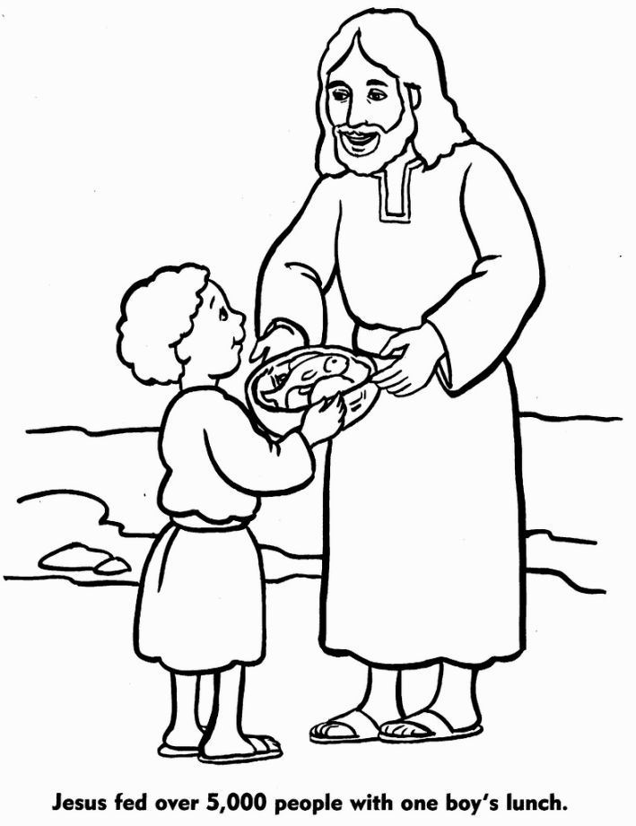 Jesus Feeds 5000 Coloring Pages | Coloring Pages - Coloring Home