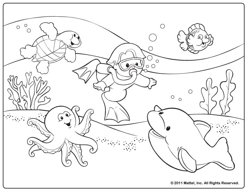 Beach Coloring Pages For Preschool - Coloring Home