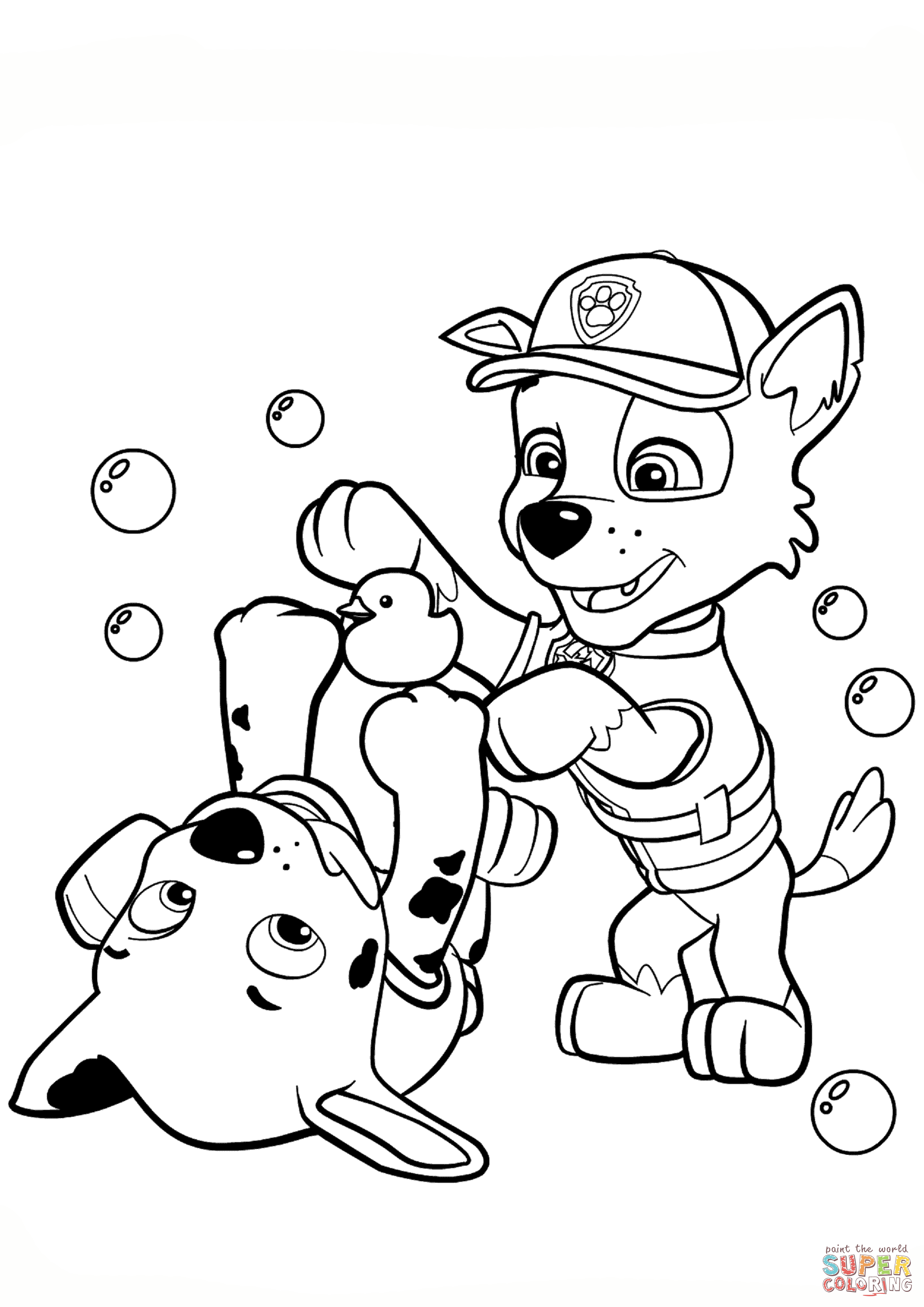Paw Patrol Rocky And Marshall Coloring Page | Free ...