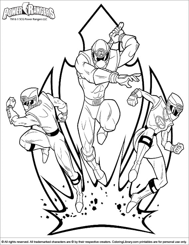 Power Rangers Coloring Pages Pdf : Pics of white power rangers coloring pages