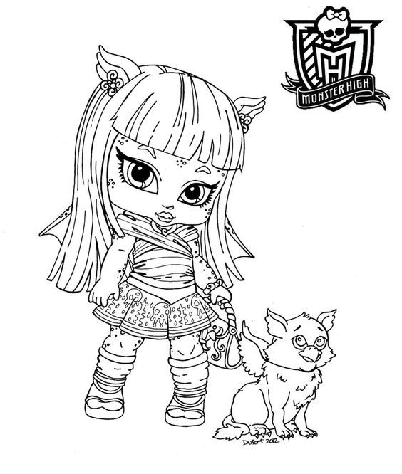 baby doll printable coloring pages for kids and for adults