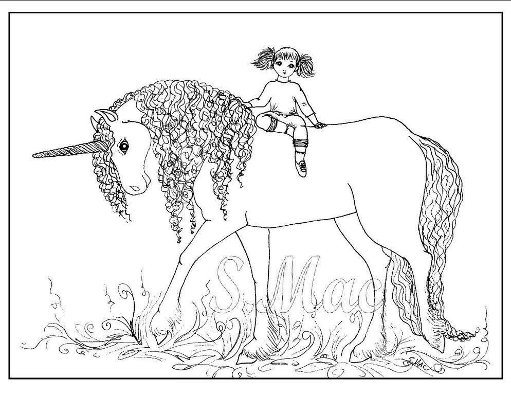 Baby Unicorns Coloring Pages