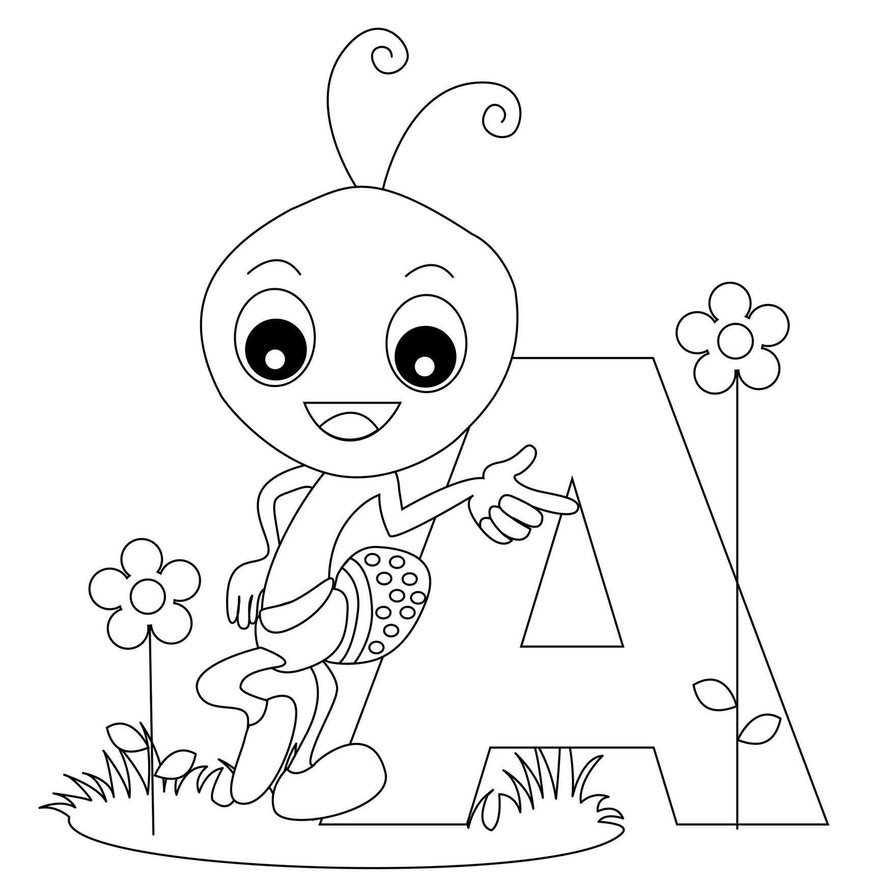 free printable ant coloring pages coloring home