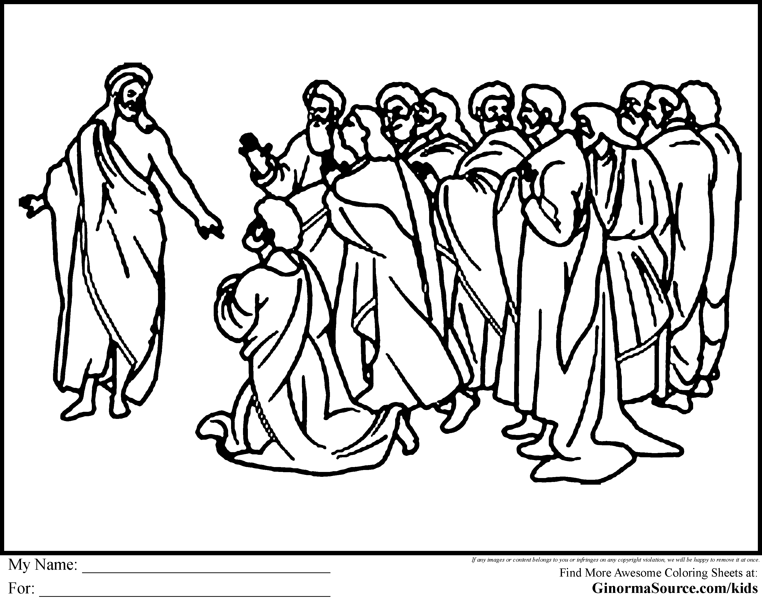 Disciples Coloring Pages