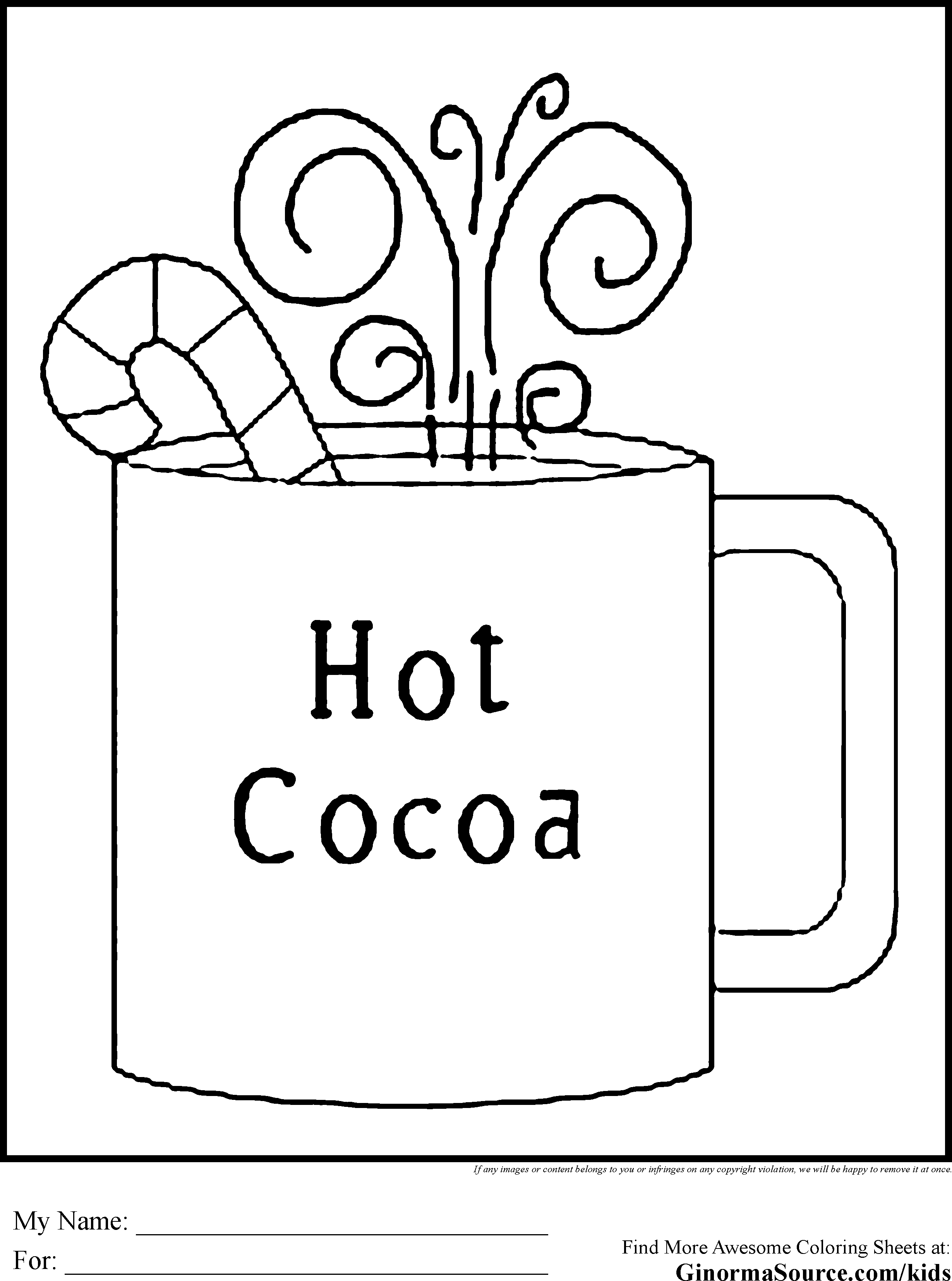 winter coloring pages kindergarten - photo#35