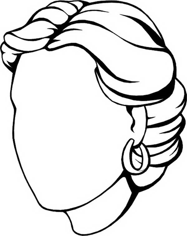 Blank face coloring page coloring home for Coloring pages of girls faces