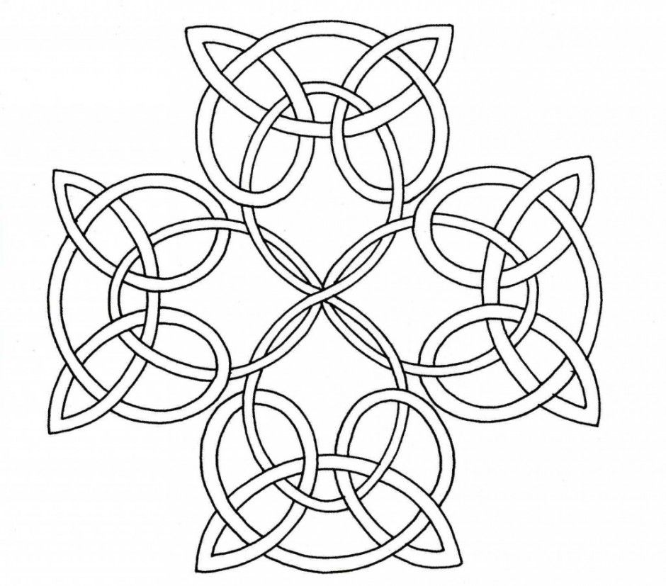 celtic knot coloring page